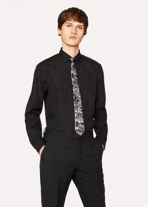 Paul Smith Men's Tailored-Fit Black Cotton 'Artist Stripe' Cuff Shirt