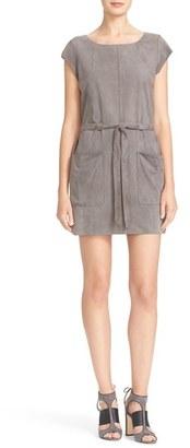 Women's Joie Maroone Belted Suede Minidress $898 thestylecure.com