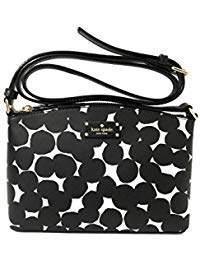 Kate Spade new york Millie Grove Street Leather Crossbody Bag Handbag Purse (Cream/Cement)