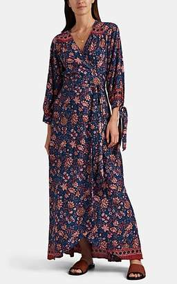 Natalie Martin Women's Danika Floral Wrap Dress - Blue