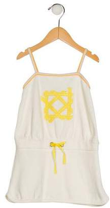 Christian Dior Girls' Embroidered Sleeveless Dress