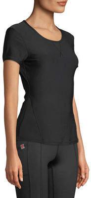 Gottex X By Short-Sleeve Jersey Mesh-Panel Tee