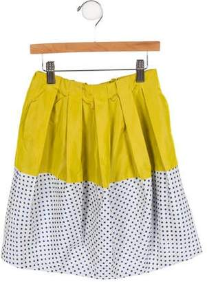 Tia Cibani Girls' Pleated Polka Dot Skirt w/ Tags