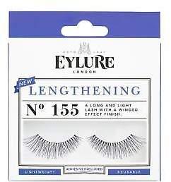 boohoo NEW Womens Eylure Lengthening False Lashes - 155 in Black size One Size