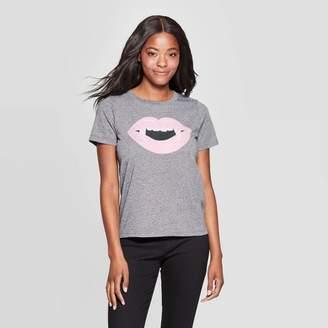 Grayson Threads Women's Fangs Short Sleeve Graphic T-Shirt (Juniors') - Gray
