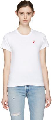 Comme des Garçons Play White Small Heart T-Shirt $85 thestylecure.com