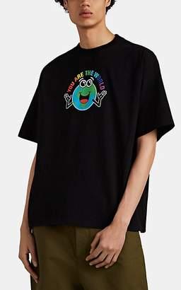 """Balenciaga Men's """"You Are The World"""" Cotton T-Shirt - Black"""