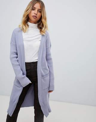 Fashion Union Relaxed Cardigan With Rib Sleeves
