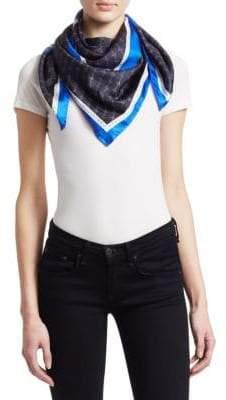 Stella McCartney Logo Stripe Silk Scarf