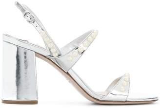 Miu Miu faux-pearl embellished sandals