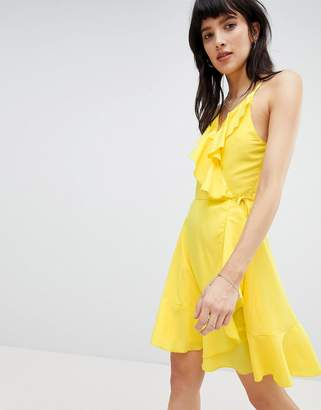 Vero Moda Ruffle Wrap Dress