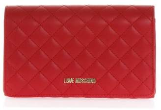Love Moschino Red Quilted Faux Leather Bag