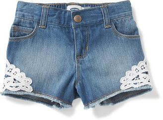Lace-Trim Denim Shorts for Toddler $16.94 thestylecure.com