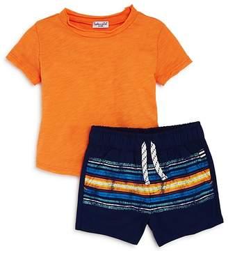 Splendid Boys' Distressed Tee & Striped Shorts Set - Baby