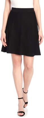 Tommy Hilfiger Black Flared Skirt