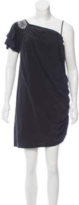 Alice by Temperley Milena Silk One-Shoulder Dress w/ Tags $125 thestylecure.com