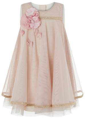 Monsoon Pink Baby 'Dragonfly' Dress