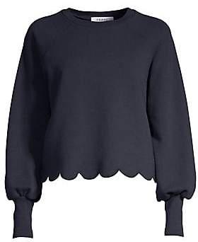 Frame Women's Scalloped Hem Crewneck Sweatshirt