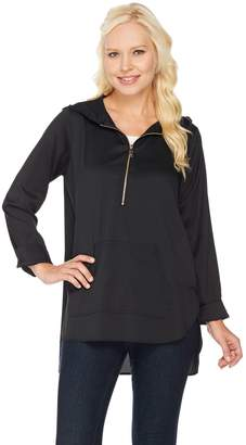 Belle By Kim Gravel Belle by Kim Gravel Woven Half Zip Tunic with Hood