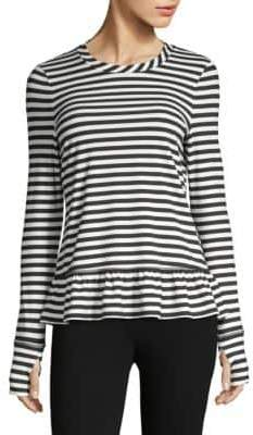 Kate Spade Striped Ruffle Pullover