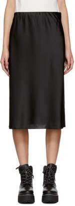 6397 Black Silk Bias-Cut Skirt