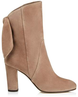 Jimmy Choo Malene 85 Suede Bow Boots