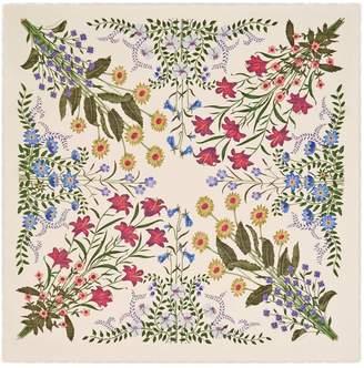 New Flora print wool silk shawl $805 thestylecure.com