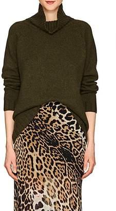 Barneys New York Women's Oversized Cashmere Turtleneck Sweater - Olive
