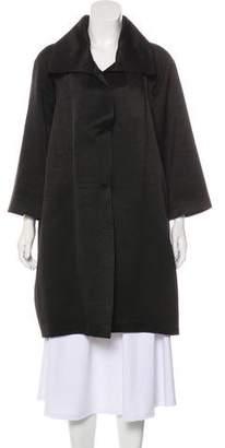 Barneys New York Barney's New York Silk-Blend Knee-Length Coat
