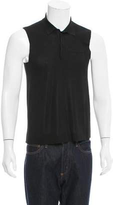 Saint Laurent Sleeveless Polo Shirt