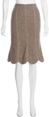 Rebecca Taylor Tweed Knee-Length Skirt