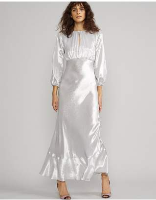 Cynthia Rowley Silver Lake Metallic Maxi Dress