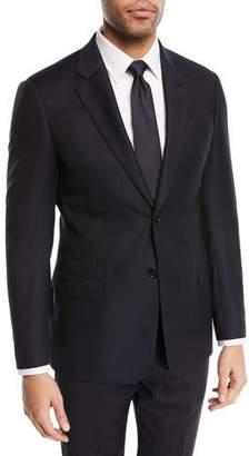 Emporio Armani Two-Button Wool Blazer, Navy