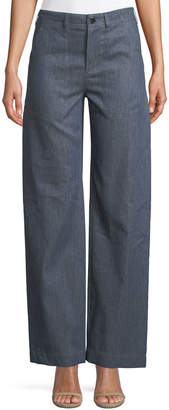 Loro Piana Ronnie Wide-Leg Midsummer Denim Pants