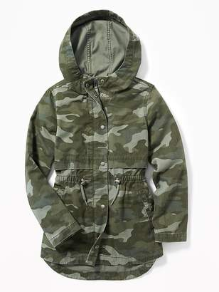 Old Navy Hooded Camo-Print Field Jacket for Girls