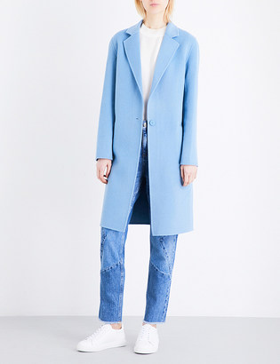 Sandro Single-breasted wool-blend coat $445 thestylecure.com