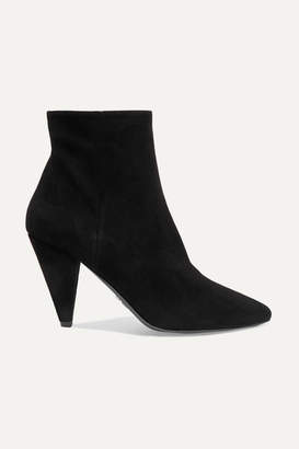 Prada 90 Suede Ankle Boots - Black