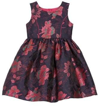 Frais Floral Brocade Fit & Flare Dress