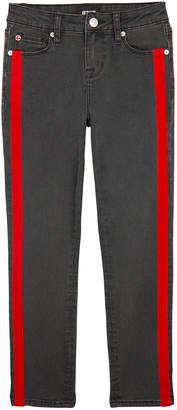 Hudson Keira Skinny Denim Jeans w/ Velvet Tape Trim, Size 7-16