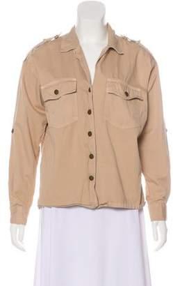 Current/Elliott Collared Long Sleeve Jacket