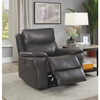 Furniture of America Michael Contemporary Leather Power Recliner Chair