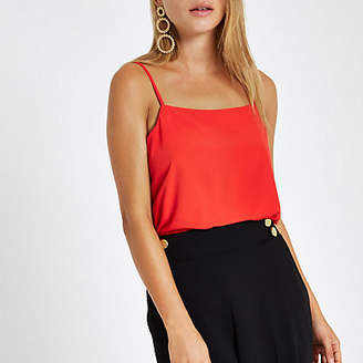 River Island Red loose cami top
