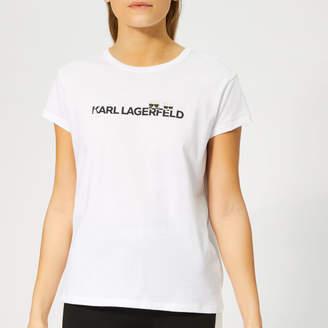Karl Lagerfeld Paris Women's Ikonik & Logo T-Shirt