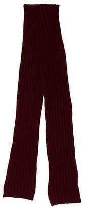 Moncler Virgin Wool Logo Patch Scarf
