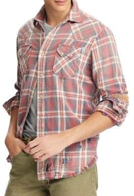 Polo Ralph Lauren Distressed Plaid Button-Down
