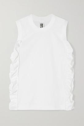831ac84675c80 Noir Kei Ninomiya Ruffled Cotton-jersey Tank