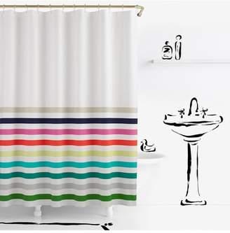 Kate Spade Candy Stripe Shower Curtain