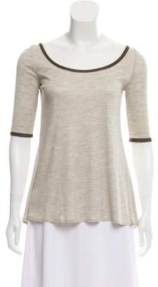 Lyn Devon Long Sleeve Scoop Neck Top