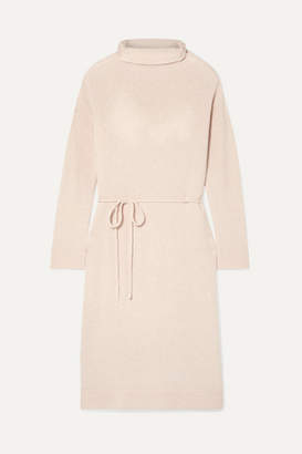 Vince Wool And Cashmere-blend Turtleneck Dress - Blush