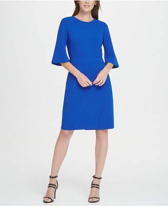 DKNY Short Sleeve Wrap Skirt Dress